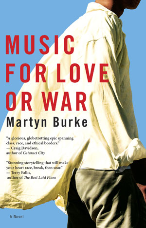 Martyn Burke, book cover.